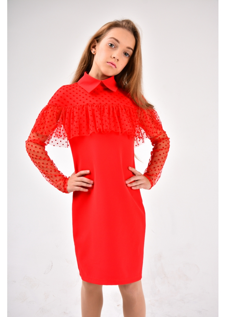 Нарядне плаття Рімма червоний Софія Шелест