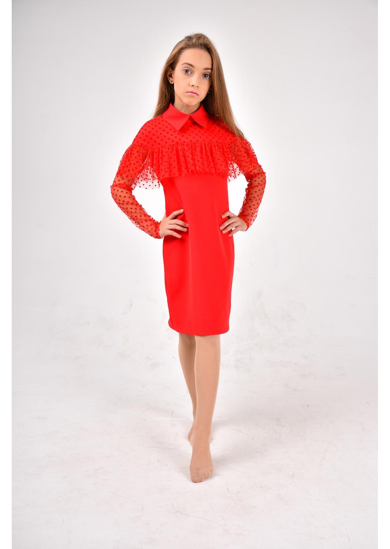 Нарядное платье Римма красный Sofia Shelest