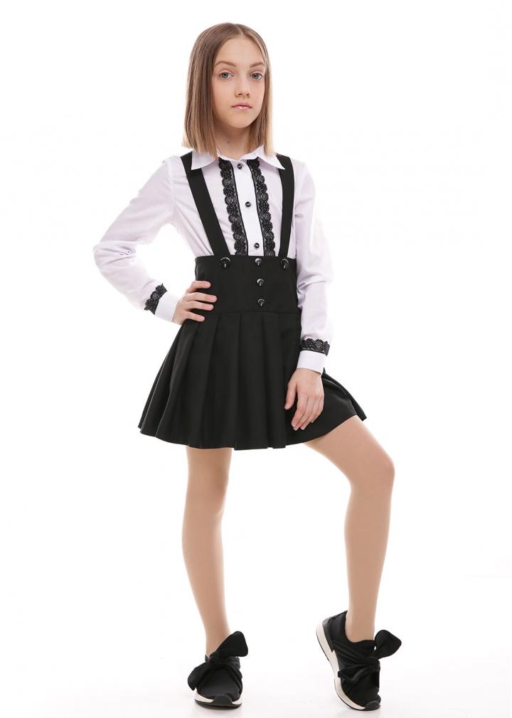 Шкільна сорочка №3 чорний Софія Шелест