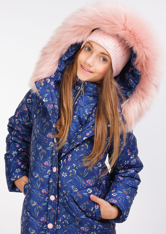 """Зимняя куртка для девочки """"Джудит"""" синий"""